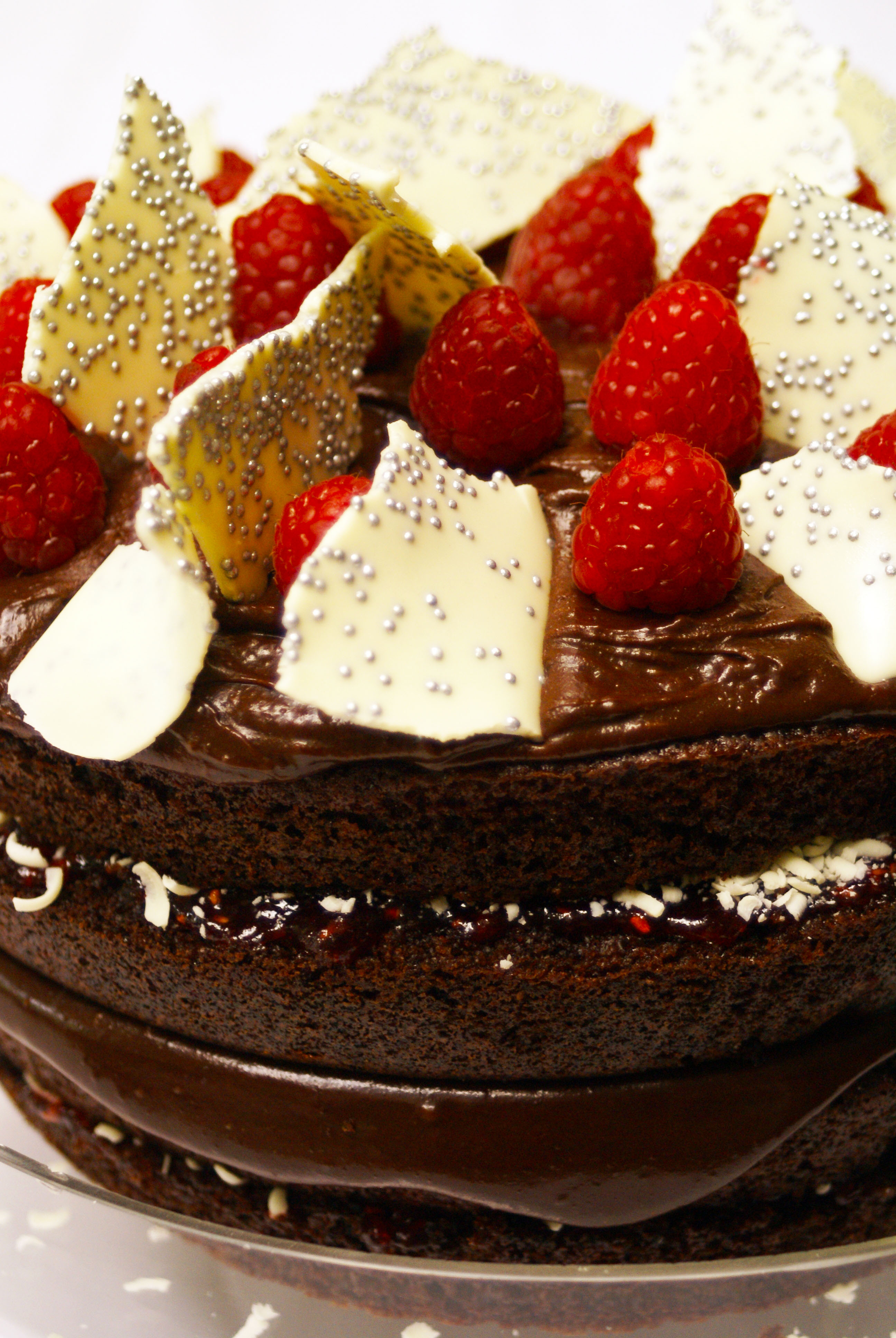 double chocolate , raspberry & chocolate cake , recipe , rich and ...