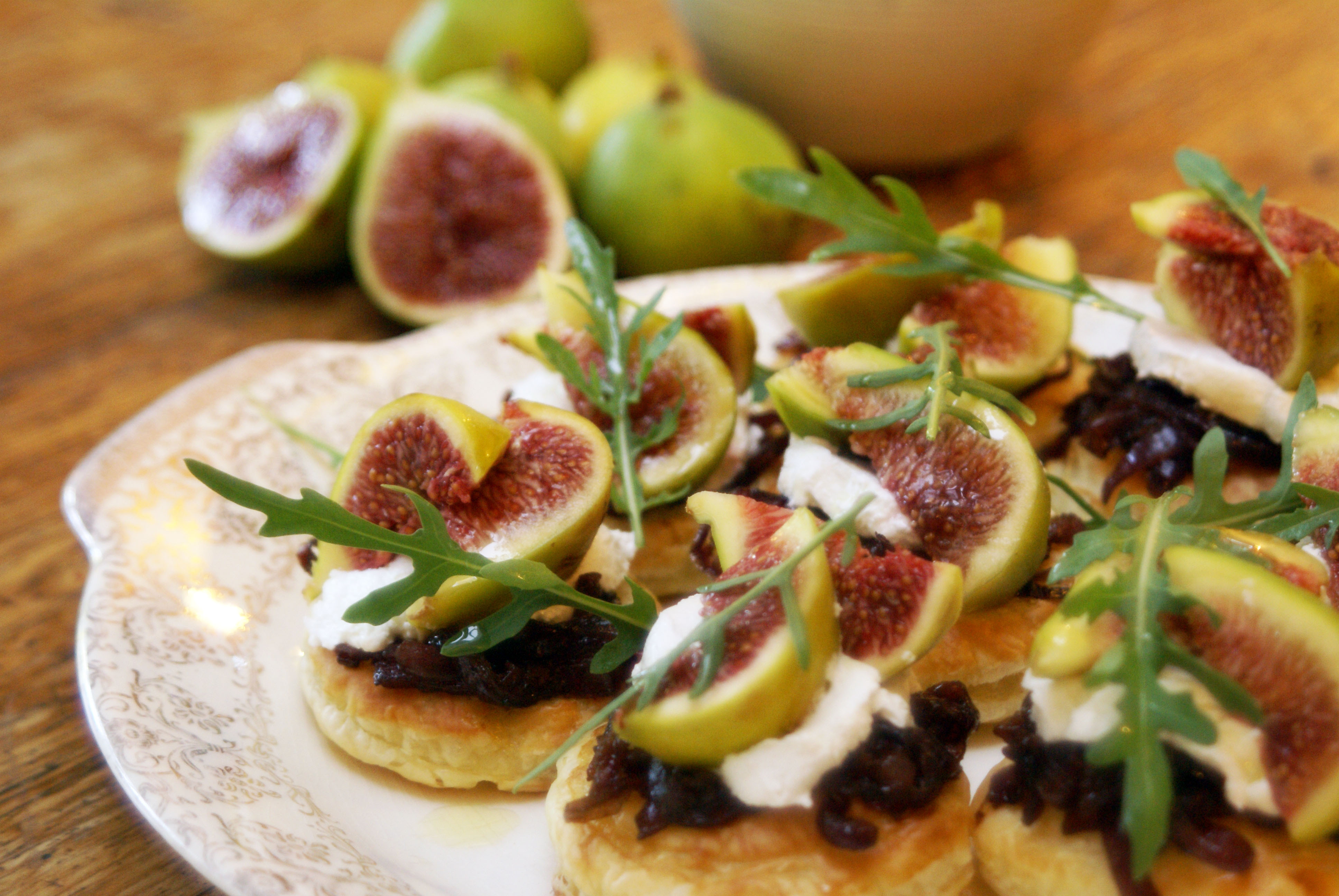 Valentine's Day Fresh Fig & Goat's Cheese Tartlets | Food ...